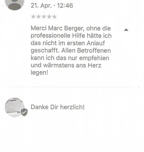Merci Marc Berger